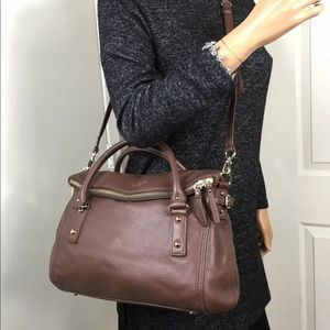 NWOT KATE SPADE COBBLE HILL SMALL LESLIE BROWN